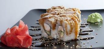 Arroz de sushi japonês imagem de stock