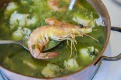 Arroz de Tamboril ή γλυκανάλατο ρύζι θαλασσινών, πορτογαλική συνταγή Στοκ φωτογραφία με δικαίωμα ελεύθερης χρήσης
