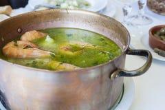 Arroz de Tamboril ή γλυκανάλατο ρύζι θαλασσινών, πορτογαλική συνταγή Στοκ Εικόνες