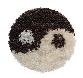 Arroz de Yin yang Imagen de archivo libre de regalías