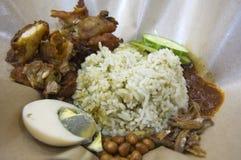 Arroz del coco, un alimento de la tradición del Malay de Malasia Fotografía de archivo