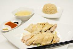 Arroz del pollo de Hainan Foto de archivo