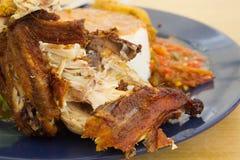 Arroz del pollo - una comida preferida del malasio Fotografía de archivo