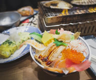 Arroz do Sashimi Imagens de Stock Royalty Free