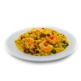 Arroz e carne do camarão Foto de Stock