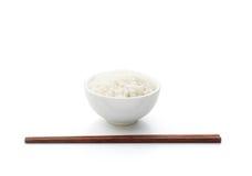 Arroz e chopstick imagem de stock royalty free