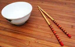 Arroz e chopsticks Fotos de Stock Royalty Free