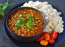 Arroz e feijões sem glúten indianos da refeição imagens de stock