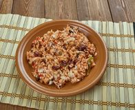 Arroz empedrado. Con Bacalao -  Spanish Rice with cod and beans of Valencia Royalty Free Stock Photos