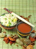 Arroz fritado chinês Foto de Stock Royalty Free