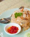 Arroz fritado com camarão Fotografia de Stock Royalty Free