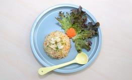 Arroz fritado com caranguejo Alimento da rua Imagens de Stock Royalty Free