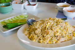 Arroz fritado com a salsicha de carne de porco vietnamiana fotografia de stock