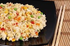 Arroz fritado com vegetais Foto de Stock Royalty Free