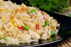 Arroz fritado com vegetais Imagens de Stock