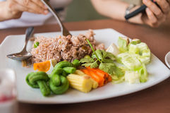 arroz fritado da Camarão-pasta Fotografia de Stock Royalty Free