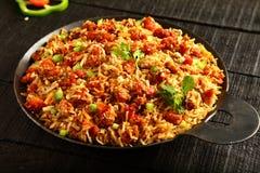 Arroz fritado da galinha picante deliciosa Imagem de Stock