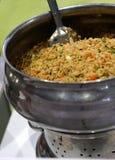 Arroz fritado da variedade chinesa indiana do vegetariano do alimento da rua imagem de stock