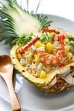 Arroz fritado do abacaxi Imagem de Stock Royalty Free