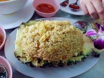 Arroz fritado do abacaxi Fotografia de Stock