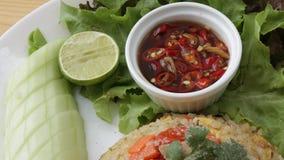 Arroz fritado tailandês Foto de Stock