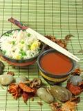 Arroz frito chino Foto de archivo libre de regalías