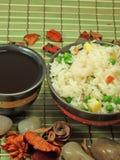 Arroz frito chino Imagen de archivo libre de regalías