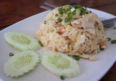 Arroz frito, cocina tailandesa Foto de archivo libre de regalías