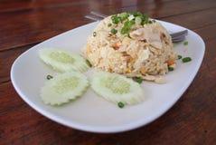 Arroz frito, cocina tailandesa Fotos de archivo libres de regalías