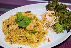 Arroz frito del camarón Imagen de archivo