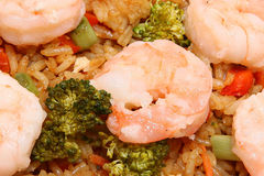 Arroz frito del camarón asiático Imagenes de archivo