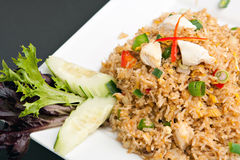 Arroz frito del cangrejo tailandés Imágenes de archivo libres de regalías