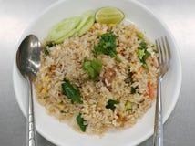 Arroz frito del cerdo tailandés Imagen de archivo libre de regalías