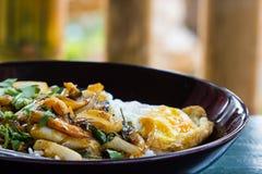 Arroz frito del curry de los mariscos Imágenes de archivo libres de regalías