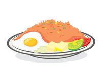 Arroz frito del desayuno Imagen de archivo libre de regalías