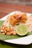 Arroz frito tailandés Imágenes de archivo libres de regalías