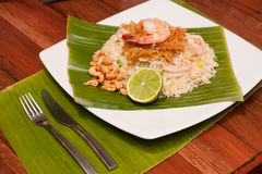 Arroz frito tailandés imagen de archivo