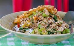 Arroz frito tailandés Foto de archivo libre de regalías