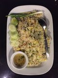 Arroz frito tailandés Fotografía de archivo
