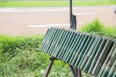 Arroz glutinoso roasted nas junções de bambu imagem de stock royalty free