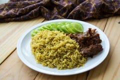 Arroz Halal del árabe de la comida imágenes de archivo libres de regalías