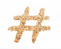 Arroz Hashtag Imagens de Stock