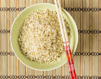 Arroz integral fervido Foto de Stock Royalty Free