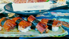 Arroz japonés de Unagi de la comida Fotografía de archivo libre de regalías
