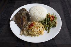 Arroz mezclado de las verduras de Singapur/de Malasia imagenes de archivo