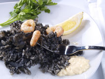 Arroz Negro – Black Rice Stock Photo