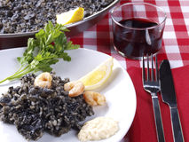 Arroz Negro – Black Rice Stock Image