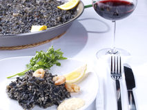 Arroz Negro – Black Rice Royalty Free Stock Photos