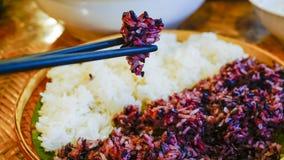 arroz pegajoso blanco y negro Fotografía de archivo libre de regalías