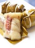 Arroz pegajoso da sobremesa tailandesa Fotos de Stock Royalty Free